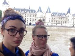 In front of a flooded Seine River, Paris
